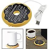 OFKPO Scaldatazze USB per caffè tè Bevande - Forma di Donuts