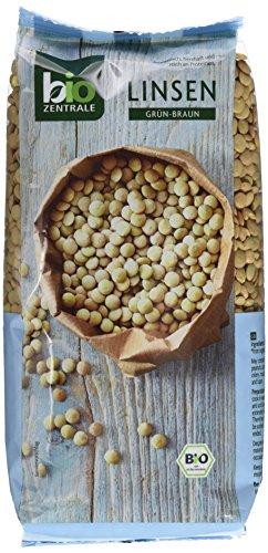 Biozentrale Bio Linsen grün-braun, 500 g