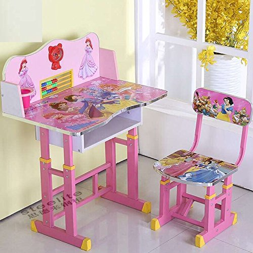 FF American Barbie Kids Study Table Set Suitable for Age 3-10 Years,