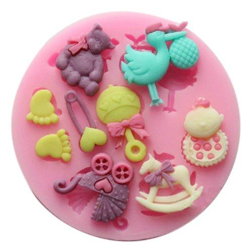 Muffa Stampo In Silicone Con 9 Modelli Per Il Fimo Caramelle Torta Fondente Decorazione - Colore Casuale