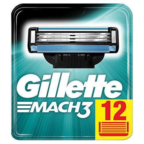 Gillette Mach3 Rasierklingen für Männer, 12Stück - Rasierklingen Mach3 12 Gillette