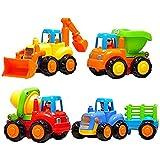 Aksh Enterprise Unbreakable Automobile Car Toy Set For Children Kids Toys Construction Team Set Of 4