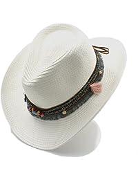 FuweiEncore Cappello da Cowboy Occidentale della cavità degli Uomini delle Donne  estive di Lavoro Manuale per bb8a2dc41893