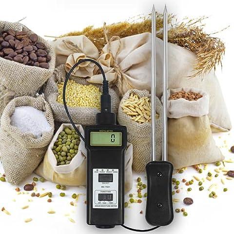Umidità e misuratore di temperatura Tester revisori (cereali, mangimi, Alimento) grano/Avena fieno/paglia/Farina/riso... F15da caffè FBA