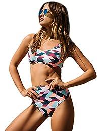 Trajes de Baño Bañadores Mujer Bikinis Talle Alto Push Up Bonitos Traje de Baño dos Piezas para Señoras Braga Bikini Cintura Alta Ropa de Baño Playa Mujeres Vestidos de Baño Deportivo Dama