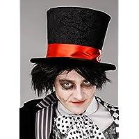 Sombrero de copa sombrerero negro gótico de Halloween para hombre