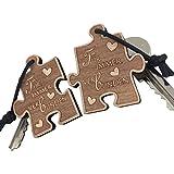 """Schlüsselanhänger aus Holz Puzzle """"Für immer Verbunden"""" sehr gute Qualität für Lieblingsmensch Geschenk Anhänger Partner vom ORIGINAL endlosschenken"""