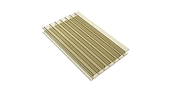 Width x Length 10mm Multiwall Polycarbonate Sheets Poly Plastic Roof Panel for Lean-to Canopy Conservatory 1 x 3m Clear