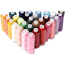 30pcs Rollos de Hilos de Coser de Poliéster, Multicolores