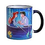 Elbenwald tazza Arielle Disney baciare la ragazza Eric 320ml ceramica blu