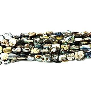 Charming Beads Strang 28+ Regenbogen Abalone Muschel Approx 10 x 14mm Nugget Perlen CB45693
