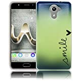 Wiko U Feel Prime Smile Silikon Schutz-Hülle weiche Tasche Cover Case Bumper Etui Flip smartphone handy backcover Schutzhülle Handyhülle thematys®