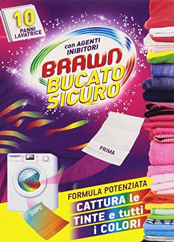 Brawn - BucatoSicuro, Panni Lavatrice con Agenti Inibitori - 10 pezzi - [confezione da 8]