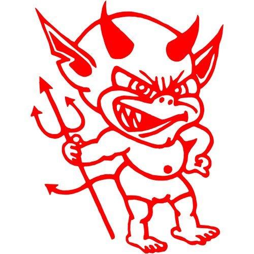 Teufel Aufkleber 003, 15 cm, rot -