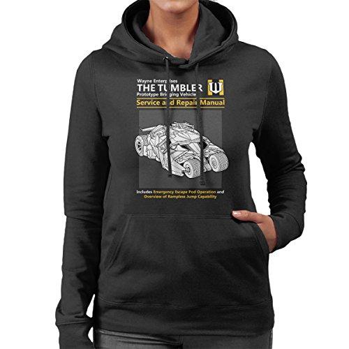 Batman The Tumbler Service And Repair Manual Women's Hooded Sweatshirt Black