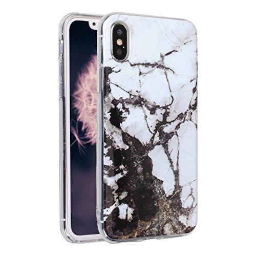 iPhone X Case, iPhone 10 Hülle Silikon, Moon mood® TPU Silikon Handyhülle Schutzhülle Case für Apple iPhone 10 X 5.8 Zoll Thin Dünn Weich TPU Schutz Etui Cover, Flexibel Silikon Case Cover Backcover S Muster 13