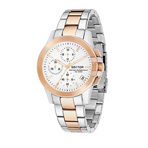 SECTOR Orologio Cronografo Quarzo Donna con Cinturino in Acciaio Inox R3273797501