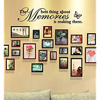 "erthome ""The Best Thing About Memories is Making Them"" Removable Art Vinyl Mural Home Room Decor Wall Stickers 60cm x 15cm"
