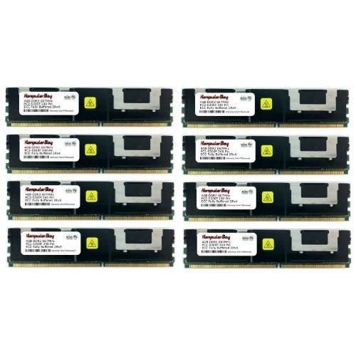 Komputerbay 32GB 8x 4GB DDR2667MHz PC2-5300ECC FB Dual Rank 2Rx4Voll gepufferter Speicher RAM - Fb, Voll Gepuffert