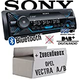 Opel Vectra A+B - Autoradio Radio Sony DSX-A510BD - DAB+ | Bluetooth | MP3/USB - Einbauzubehör - Einbauset