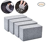 Egosy Cleaning Stone Cleaning Block Barbecue Cleaning Brick Blocks Reusable Descaling Cleaning Pumice Stone Removing Stains Bbq 4Pcs