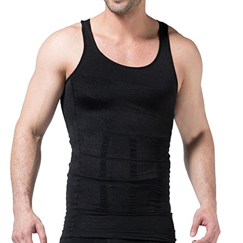 ChicSoleil Herren Kompressionsunterwäsche Tank Top Männer Körperformung Kleidung Atmungsaktiv schnell trocknend Unterhemd Engen Fitness Sport Weste