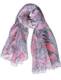 Foulard écharpe étole imprimé cachemire 4 couleurs été 2017