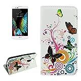 Design Wallet Style per LG K10 Orizzontale Flip Flower Buds modello PU + - Best Reviews Guide