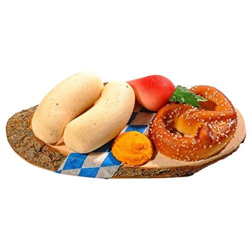 Bayerische Marzipan Brotzeit auf echter Baumscheibe, 160 g, Handgefertigte Konditorenqualität, Originelle Geschenkidee (Geschenke Bio-lebensmittel-körbe,)