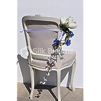 Avorio Fresh Touch, Delphinium tulipano e ciliegio matrimonio Pew fine