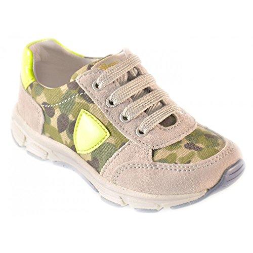 Naturino - Crianças Sapatos Cinza Dinâmica Verde Amarelo