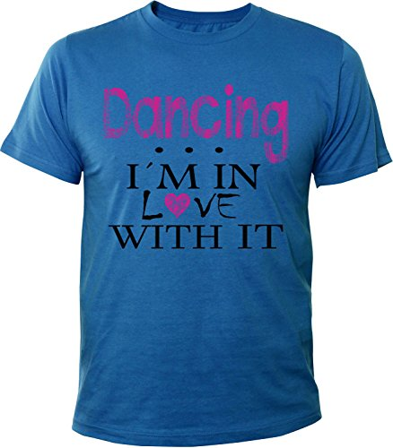 Mister Merchandise Herren Men T-Shirt Dancing - I´m in love Tee Shirt bedruckt Royal