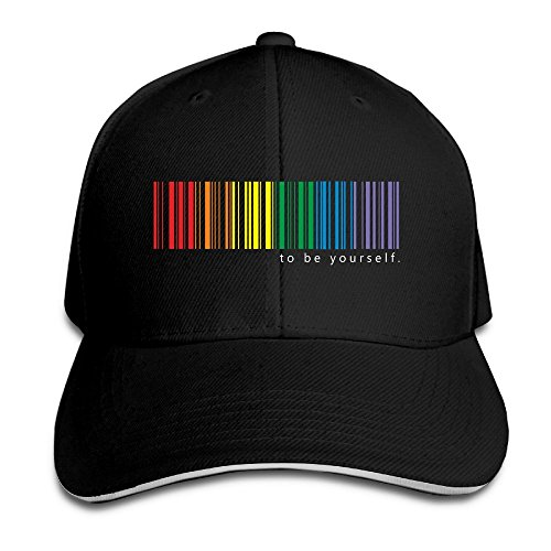 ride Rainbow Men's Contrast Baseball Cap Sandwich Peak Black ()