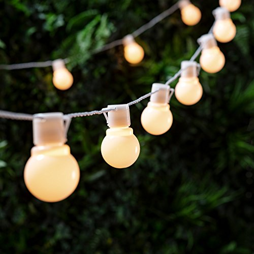Lights4fun Guirnalda de luz LED Blanca cálida DE 30 Piezas, Modelo Party