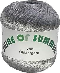 Shine of Summer - Sommergarn aus Viskose und Polyester in der Farbe Grau- 50 Gramm Knäuel