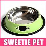 blyax (TM) Kostenloser Versand 2Farben High Qualität Edelstahl mehrfarbig Slip bruchsicheren Pet Cat Fressnapf