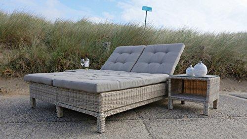 Gartenliege Gartenbett Gartensofa Lounge Gartenbank Sofa 200x130 cm verstellbar