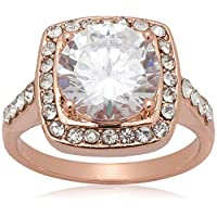 18K Rose Gold Plated Clear crystal Rings