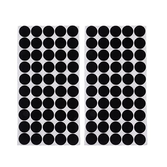 Non-Brand 100 Pieces Multifunction Black Self Adhesive Furniture Leg Table Chair Sofa Feet Floor Non-Slip Mat Sticky Pad Rubber Floor Protector Pads Anti-Skid Scratch