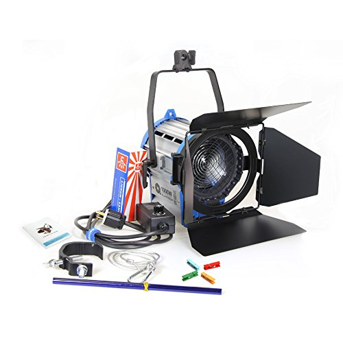 Alumotech 1000 vatios Fresnel Tungsteno Foco Lámpara Atenuador Incorporado Cable Atenuación Studio Video Luz para la cámara de Iluminación Compatible + Globos + Barndoor