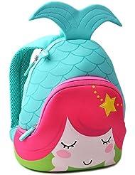 Kids Backpack F40C4TMP Kindergarten Preschool Neoprene Shoulder Nursery Bag Cartoon Bag (Mermaid …)