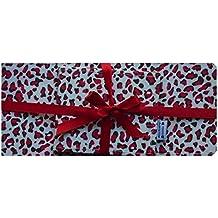 Rojo Animal Imprimir cuaderno de cheques y la tarjeta de caja de regalo accesorios