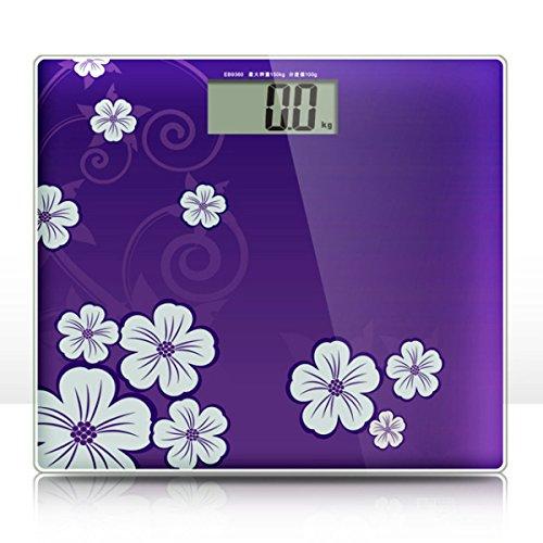 Tipo de producto: Electronic Función: Medición del peso corporal La gente: general Capacidad máxima: 150 kg Color: púrpura, naranja brillante, verde brillante