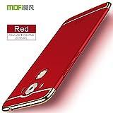 Asus Zenfone 3 Max ZC553KL Coque - BCIT [3 en 1 Series] Coque Très mince Non Slip Surface antichoc & Electro Placage Texture Protector pour Asus Zenfone 3 Max ZC553KL - Rouge