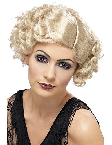 20's Flirty Flapper Wig Blonde (Flapper Flirty Kostüm)