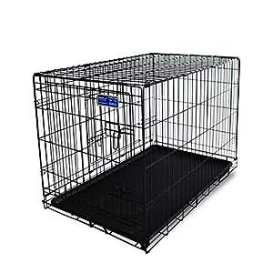 Simply Boîte Maison-Cage pour chien-chien Cage | avec 2portes et roulettes