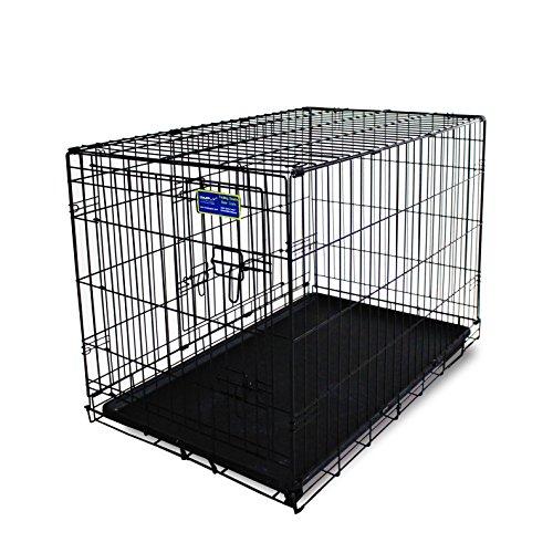 Simply Maison XXL | Hundekäfig | Transportbox | Drahtkäfig mit 2 Türen Trenngitter und 2 Tragegriffen ( 122,5cm x 75,5cm x 83,5cm )