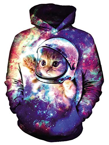 Chicolife Unisex Realista 3D Digital Gato Astronauta