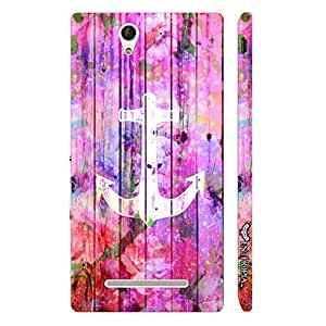 Sony Xperia C3 Anchor Art 2 designer mobile hard shell case by Enthopia