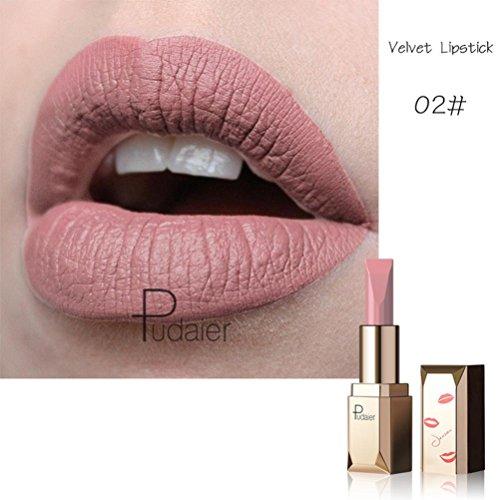 Nackt Glasur (Lipstick HKFV Flüssiger Lippenstift-Feuchtigkeitscreme-Samt-Lipgloss-Lippenstift kosmetische Schönheits-Make-up Matte Lippe Glasur Lippenstift 2 Sätze (B))